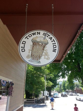 Weaverville, Kalifornien: Sign for Old Town Station