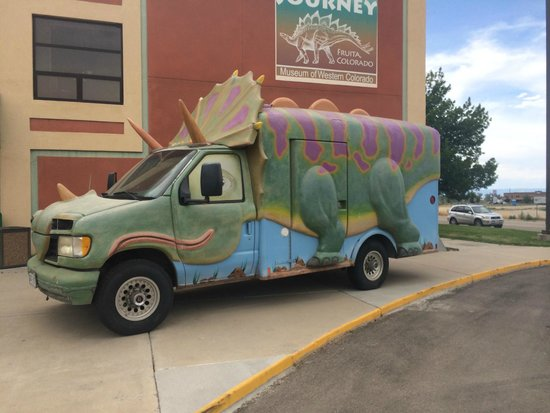 Museum of Western Colorado: Dinosaur Journey Museum: fun car out front