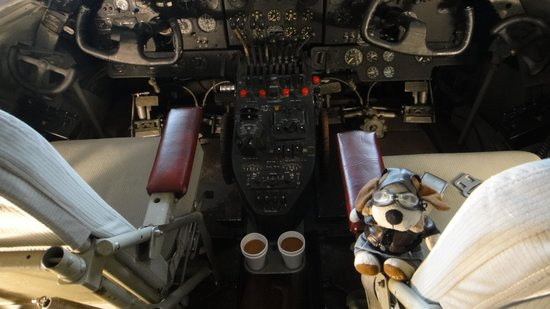 BC Aviation Museum: Coffee ready...where's my co-pilot?