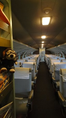 BC Aviation Museum: Checking the cabin.