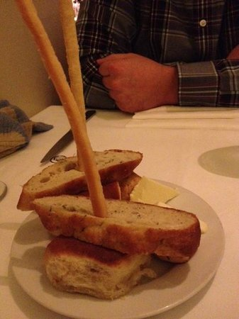 James at the Mill Restaurant: Very tasty bread
