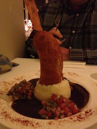 James at the Mill Restaurant: Andouille Corn Dog