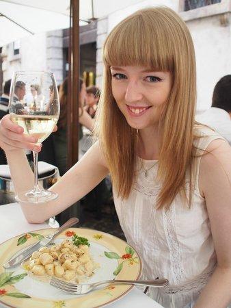 La Griglia: Gnocchi with truffle, and wonderful wine!