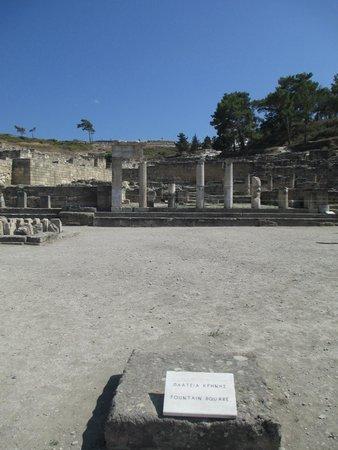 Ancient Kamiros: Piazza della Fontana