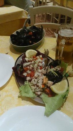 Al Mulino : Fantasia dello chef e cozze marinate
