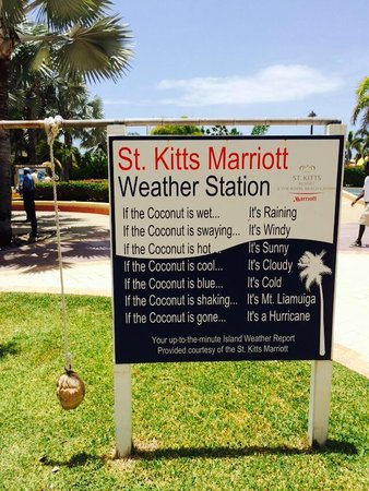 St. Kitts Marriott Resort & The Royal Beach Casino: the weather station