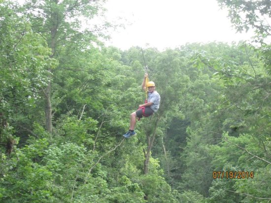 Sky Tours at YMCA Union Park Camp: My 14 year old smiling and having fun