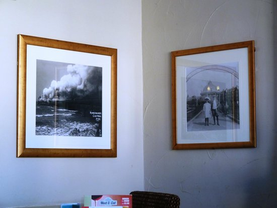 Dog and Partridge : Pictures of old Morecambe on the wall
