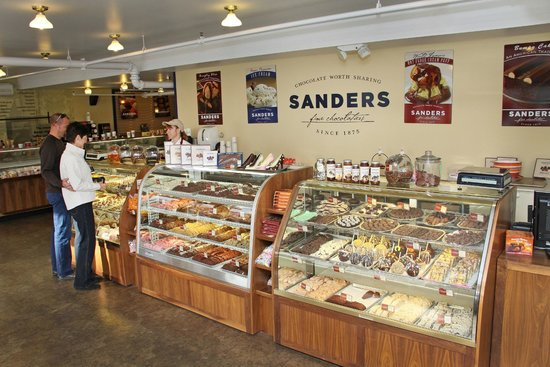 Sander's: inside shot of the Sanders store