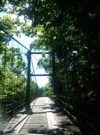 Swinging Bridge: driving over one of the bridges