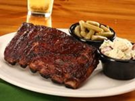 Sticky Fingers: Half Slab of our award-winning St. Louis-style, Slow, Hickory-Smoked Ribs