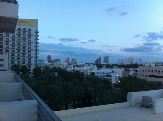 Loews Miami Beach Hotel: Vue de la Terrace suite