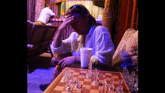 Ramon's Village Resort : You can play chess near the pool and bar or you can lounge while watching sporting events on the