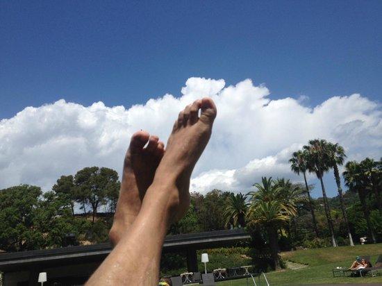 Hotel Guitart Monterrey: en la hamaca junto a la piscina