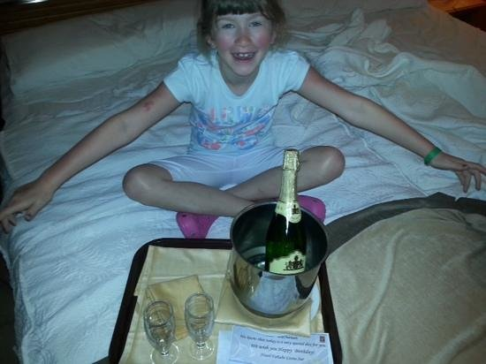 GF Fanabe: fizz sent for my birthday!!! (the child pictured did not drink any haha!!!)