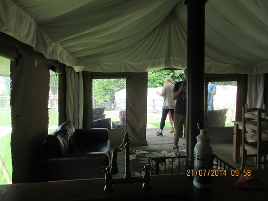 Bear Lodge: view from kitchen area