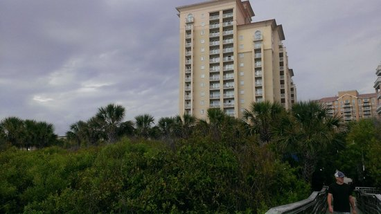 Myrtle Beach Marriott Resort & Spa at Grande Dunes: view from beach