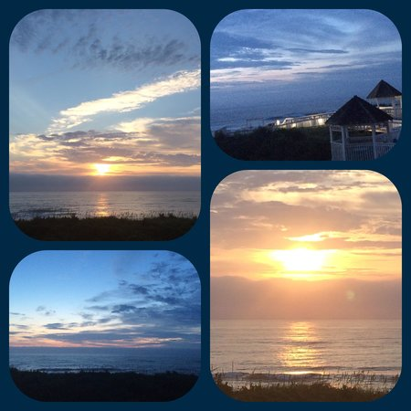 Ramada Plaza Nags Head Oceanfront: Day #2: Sunrise from our balcony