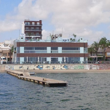 Miramar La Ribera: Restaurant from ferry