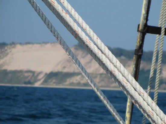 Inland Seas Education Association: Sailing off Frankfort 2012 BIG Sand Dunes