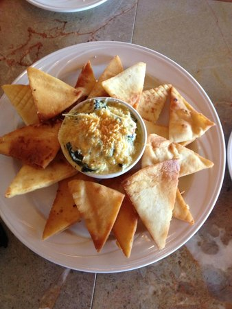 High Finance Restaurant : Spinach and Artichoke Dip with Naan Bread = WOW