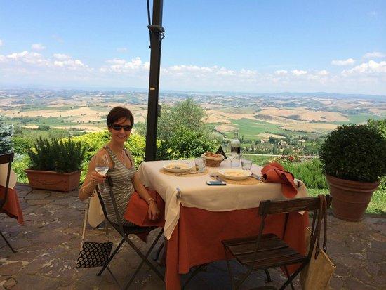 Ristorante Boccon DiVino: boccon di vino view june afternoon