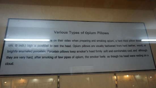 Opium pillow - Picture of Hall of Opium Museum, Chiang Saen - TripAdvisor