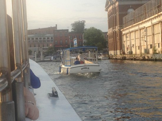 Baltimore Water Taxi: View of Fells Point and another BWT as we arrive to the dock