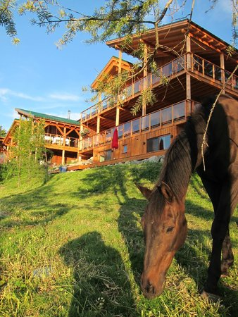 Kelowna Stables at Myra Canyon Ranch: Our guest house and ranch