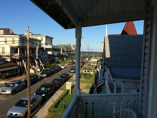 The Melrose: View from the one of the porches to the ocean.