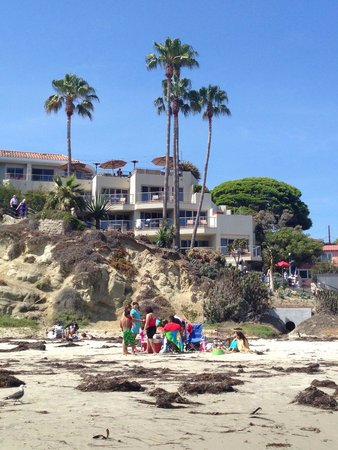The Inn At Laguna Beach: View of hotel from the beach