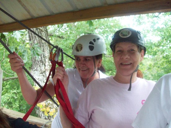 Eagle Falls Ranch Zipline Adventures: Me and friend