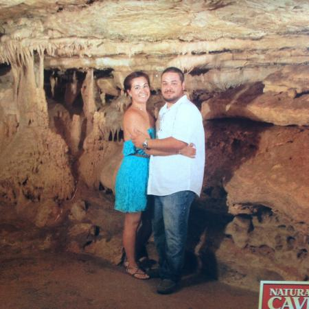 Natural Bridge Caverns : Our cave tour photo ! Only $10!!