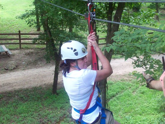 Eagle Falls Ranch Zipline Adventures: That's me