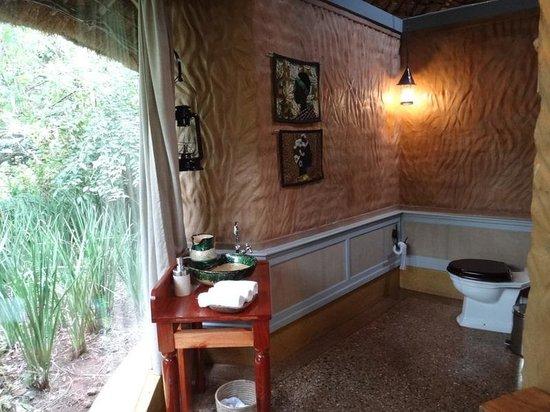 Gibb's Farm: いきなりトイレ画像で申し訳ないのですが、アフリカのトイレ事情を考えると、それほど素晴らしい空間でした。