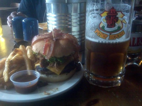 Barnyard BBQ: The Burger That Ate Moncton and a nice Big Beer.
