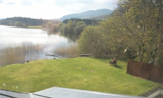 The Lake of Menteith Hotel: View from front facing room.