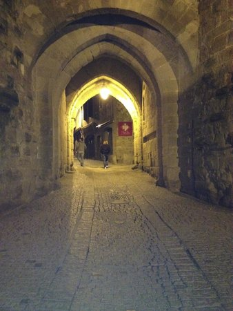 Carcassonne Medieval City: the entrance at nite