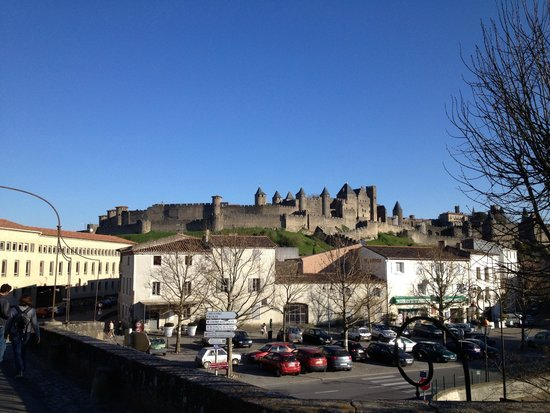 Carcassonne Medieval City: from the bridge across the river