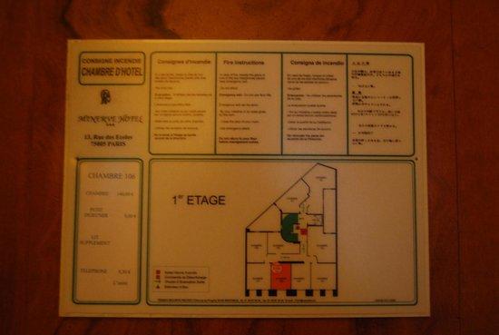 Minerve Hotel : Plano de habitaciones