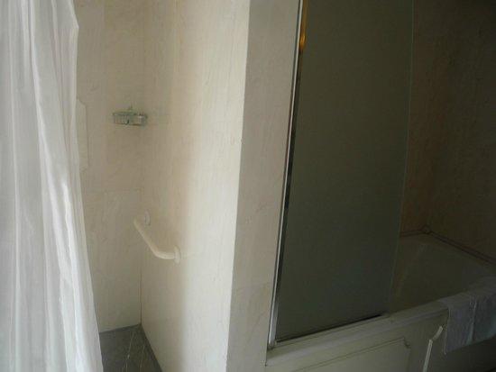 UNA Hotel Palace: Le due doccie nel bagno