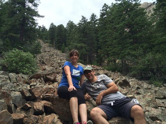 Flatirons: This part of the trail was basically a giant rockslide!