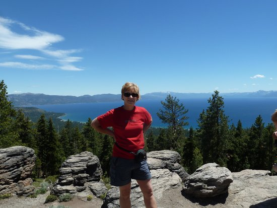 Tahoe Adventure Company: a view of Lake Tahoe from the top of the mountain
