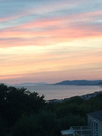 Brynowen Holiday Park - Park Resorts: Sunset from our caravan high on the hill