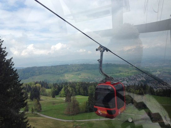 Pilatus: Ride down from the mountain.