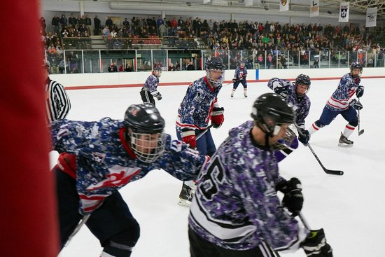 The Gardens Ice House: High School Hockey with the Wounded Warriors