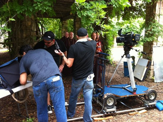 San Antonio Botanical Garden : Shooting a TV commercial
