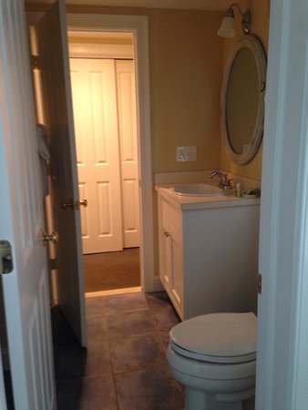The Breakers on the Ocean: One of two bathrooms, Room 209. Tons of storage throughout unit.