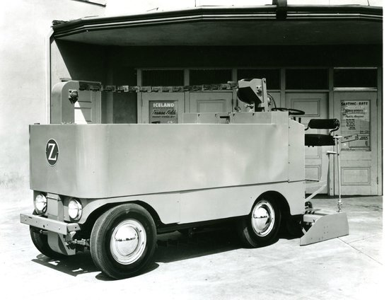 Highland Ice Arena: F Series Zamboni, our first model in 1962