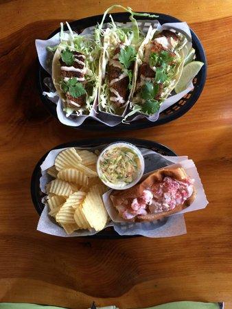 Lobster Shack: Lobster Roll + Fish Tacos
